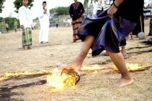 Playing Soccer Is Fun But Why Don`t We Use A Flaming Coconut As A Ball?