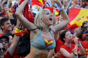 Sexy Ladies Flashing Their Boobs in the Spirit of the World Cup! (NSFW)
