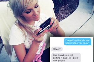 Guy`s ex-girlfriend refuses to return phone, so he handles her accordingly (13 Photos)