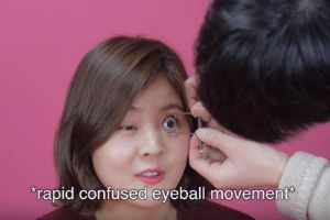 `Korean girls try to open their eyes` in hilarious, disturbing beauty video