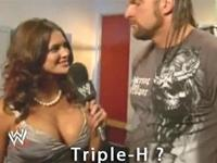 Triple H Interview with Eve Torres - Cleavage trolling level 99
