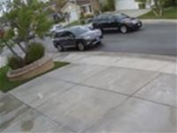 Security Camera captures car crashing twice