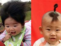 Funny hairstyles with your baby`s hair. (15 pics)