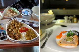 What Airplane Food Looks Like In Economy Vs. First Class