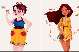 Colorful Illustrations Of Disney Princesses As Millennials