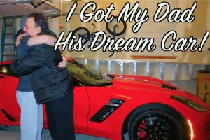 Buying Dad His Dream Car! A touching moment when a son gives his dad a 2016 CORVETTE Z06.
