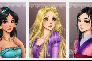 This is what Disney princesses would look like if they were anime characters (13 pics)