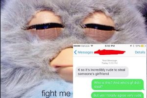 Jealous boyfriend texts the wrong number; won`t take a hint (9 Photos)