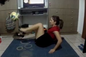 Amazing Freestyle Football Skills in High Heels