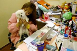 How cool to be allowed to bring your pet to work! This Chinese company does.