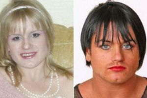 Steroid Abuse Turned This British Woman Into A Man. Once a Slender, Pretty Blonde, Candice is now a Hulking Brunette..
