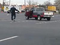 Kung Fu grandpa in the Food Lion parking lot