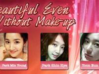 Who are the most beautiful Korean female celebrities even without Make Up?