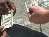 Giving homeless people a hundred bucks magic trick