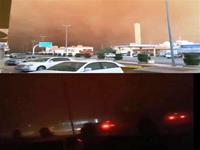 Incredible sandstorm turns day into night.
