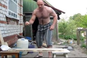 Guy Hammers Nails with Bare Hands