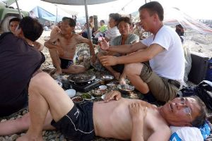 Just A Day at the Beach in North Korea.. Yeah They Have Beach Days Too...