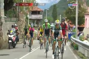 Two Cyclists Start Punching Each Other in the Middle of a Race. Italy vs Russia