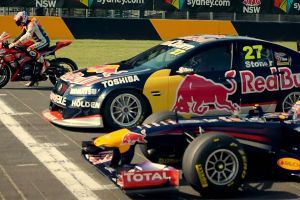 Wondering What will Happen if F1 Car, Supercar and Motorbike Race? Well Here It Is!