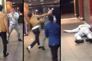 Loudmouth Knocked Out At McDonald`s By Lucky Punch