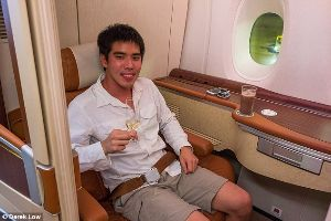 Asian guy blows $23,000 of air miles on world`s most luxurious flight from Singapore to New York and blogs every detail