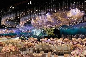 Beautiful wedding theme with thousands of light sticks, swarovski crystals..If this isnt your dream wedding, I dont know what else...