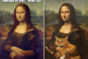 Famous Paintings Are Less Boring With an Added Cat (15 pics)