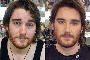16 Unbelievable photos of ordinary men before and after makeup