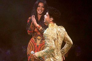 Prince once kicked Kim Kardashian off the stage, cementing his legendary status.