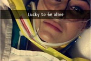 She Was Attempting To Use Snapchat While Driving, And The Crash Didn't Even Stop Her