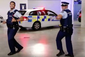 Legendary cops in New Zealand have sparked an international dance-off between law enforcement officers after their dance challenge goes viral