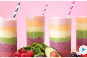 Rainbow Smoothie Will Brighten Your Day Even With Just A Look!