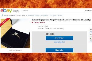 Brilliant guy has a unique way to sell his ex-wifes `Cursed Ring of the Dark Lord` on eBay (7 Photos)