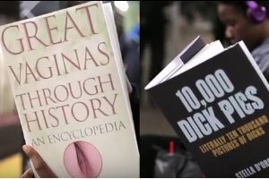 `Reading Fake Books On The Subway` Has Another Video, This Time `Great Vaginas Through History?` and `10k Dick Pics`. People Reactions Will Make Your