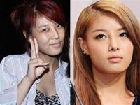 More pictures of the famous korean girls with and without makeup