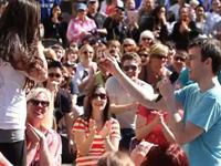 Glee Flash Mob and Marriage Proposal