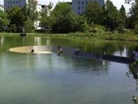 The only place in the world where you can sit in the middle of a pond without getting wet