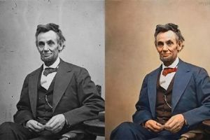 25 Famous Black And White Photographs Brought To Life With Color