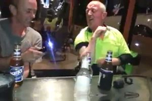 Two Drunks Play With A Taser