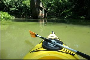 Imagine Going Kayaking And Finding THIS creepy thing In The Middle Of The River. Unbelievable.