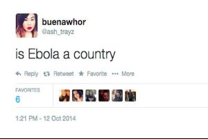 `Is Ebola a country? is Ebola an std?` Someone please helps answer the dumb questions for these people on twitter