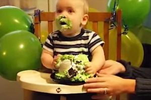 Baby Tastes Cake For The First Time, Immediately Dives In Head First