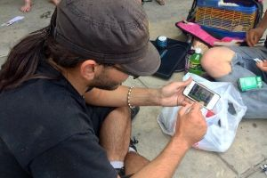 Smartphones and Laptops of Homeless people in America