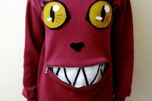 DIY for Today: the Zipper Mouth Cat Sweater! Totally Doable!