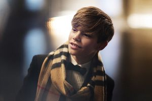Kids of famous people are growing up! son of David and Victoria Beckham: Romeo modeling for Burberry