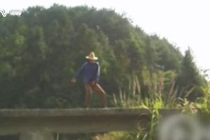 Chinese farmer caught doing the perfect Michael Jackson impression