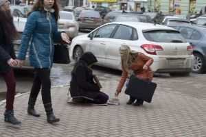 A Beggar with an iPhone Is Pretty Ironic