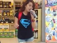 Random Asian Girl Steps Up to a Karaoke Machine - And FLOORS Everyone