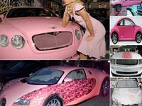 Pink car collections for the rich ladies