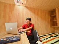 Chinese architecture student living in a 75 square foot house like a boss
